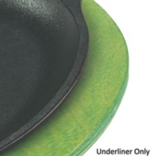 "Lodge® UOPB8 11-3/4"" Lime Green Oval Wood Underliner - 6 / CS"