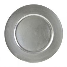 "Ten Strawberry Street Silver Lacquer 13"" Round Charger Plate"