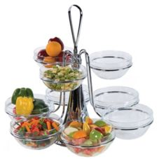 Buffet Euro 2350 Chrome Revolving Centerpiece With Nine Glass Bowls