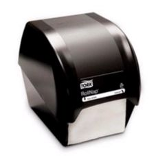 SCA Tissue Black Countertop Dispenser for Roll Napkin