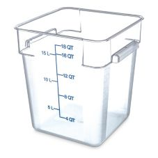 Carlisle 1072507 StorPlus™ 18 Qt. Square Food Storage Container