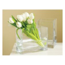 "Tag 259534 8"" x 5"" Clear Glass Vase - 4 / CS"