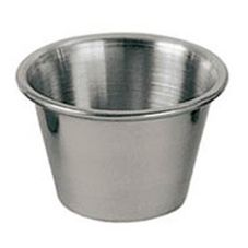Update International SC-25 2.5 Oz. Stainless Steel Sauce Cup - Dozen