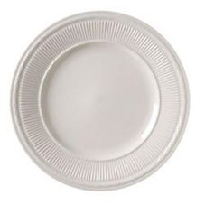Vertex® China Windsor Sculpted Rim Collection 9-3/8 In White Plate