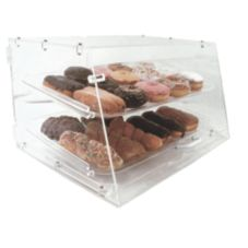 Update International APB-2112FD 2-Tray Acrylic Display Case with Door