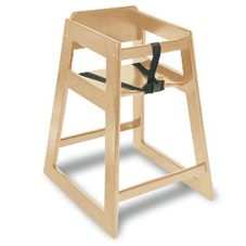"Koala Kare KB800-20 27.5"" Light Finish Hardwood High Chair"