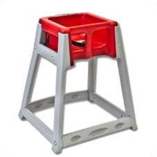 Koala Kare KB877-03 KidSitter Gray High Chair with Red Seat