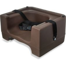 Carlisle® 7111-401 Brown Booster Seat with Strap