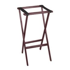"Tomlinson Marston 38"" H Contemporary Red Mahogany Tray Stand"