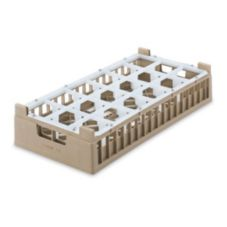 Vollrath® 5282322 Cocoa Half Size Medium 18-Compartment Glass Rack