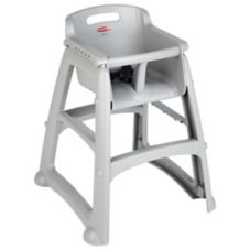 Rubbermaid FG780608PLAT Sturdy Chair Platinum Youth Seat / No Wheels