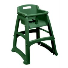 Rubbermaid Sturdy Chair Unassembled Dark Green Youth Seat w/o Wheels