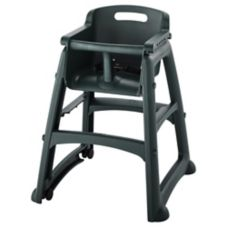 Rubbermaid Sturdy Chair™ Dark Green Youth Seat w/ Wheels