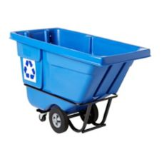 Rubbermaid Blue Standard Duty 1/2 cu yd Recycling Tilt Truck