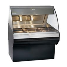Alto-Shaam HN2SYS-48/P-BLK Halo Heat Open Front Self-Serve Deli Case