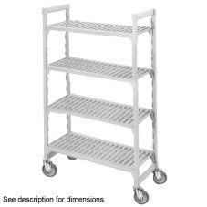 Camshelving CSURS44367480 Gray Vented 4-Shelf Mobile Starter Kit