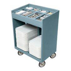 Cambro TC1418401 Slate Blue 180-200 Tray Capacity / Silverware Cart
