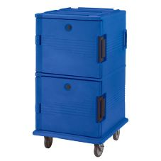 Cambro UPC1600186 Navy Blue Ultra Camcarts for 16 Full Size Food Pans