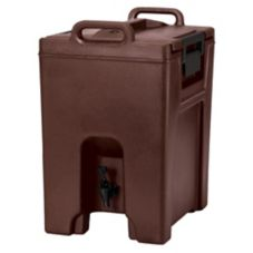 Cambro UC1000131 Dark Brown 10 Gallon Ultra Beverage Camtainer®