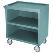 Cambro Granite Green Closed Side 3-Shelf Service Cart