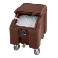Cambro Standard Height SlidingLid Ice Caddy, Dark Brown, 100 lbs