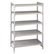 "Camshelving CSU54607 Gray 72"" High 5-Shelf Stationary Starter Kit"