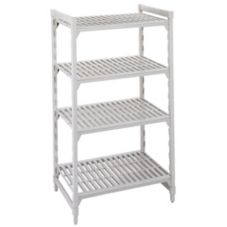 "Camshelving CSU44427 Gray 24"" x 42"" 4-Shelf Stationary Starter Kit"