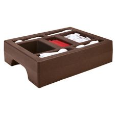 Cambro LCDCH10131 Large Dark Brown Ultra Camtainer Condiment Holder