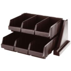 Cambro® 6RS6131 Versa Dark Brown 6-Bin Organizer Rack