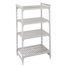 Camshelving CSU44367480 Gray Vented 4-Shelf Stationary Starter Kit