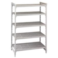 "Camshelving CSU58487480 Gray 18"" x 48"" 5-Shelf Stationary Starter Kit"