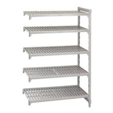 "Cambro CSA58487480 Speckled Gray 18"" x 48"" 5-Shelf Add-On Unit"