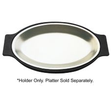 "Tomlinson 1006339 Black 8"" x 12"" Bakelite Holder for Sizzle Platter"