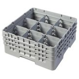 Cambro® 9S638151 Camrack® Soft Gray 9 Compartment Glass Rack