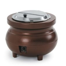 Vollrath 72166 Cayenne Copper 11 Qt. Colonial Kettle™ Warmer