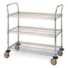 """Metro® MW704 S/S 18 x 30"""" MW700 Series Standard Duty Utility Cart"""