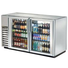 True® S/S 2-Glass Swing Door Back Bar Cooler for 94 6-Packs