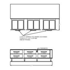 "Randell 107"" Refrigerated Equipment Stand w/(6) 32"" drawers"