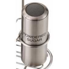 Service Ideas STCMESHPSUGR Powdered Sugar Imprinted Shaker - 6 / CS