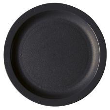 "Cambro 825CWNR110 Camwear Black 8-1/4"" Narrow Rim Plate - 48 / CS"