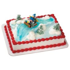 DecoPac 96437 Sledding Penguin DecoSet - 6 / BX