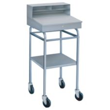 "Win-Holt® RDMWN-3 Mobile Steel Receiving Desk with 5"" Casters"