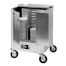CresCor HJ-531-13-180 180 Plate Capacity Heated Enclosed Dish Dolly