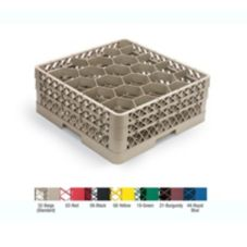 Traex® TR11GGGGG Beige 20 Compartment Glass Rack with 5 Extenders