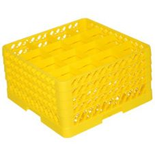 Traex TR8DDDD-08 Rack-Master Yellow 16 Comp. Glass Rack w/ 4 Extenders