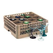 Traex® TR18JJ 12 Compartment Glass Rack with 2 Extenders