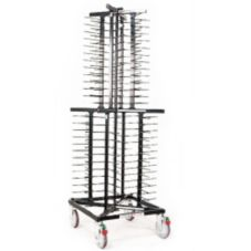 Mobile Plate Rack, For 104 Plates