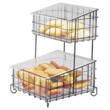 Cal-Mil® 1203-13 Black Wire 2 Tier Bread / Bagel Unit