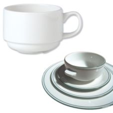 Steelite 13150234 Simplicity Laguna 3-1/2 Oz. Stacking Cup - 36 / CS