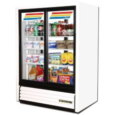 True® Slide Door 2-Section Convenience Store Cooler, 15 Cubic Ft
